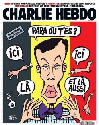 La copertina di Charlie Hebdo in edicola il 30 marzo