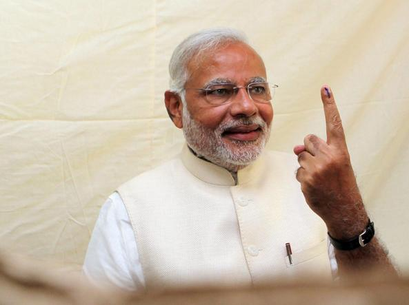 Il premier indiano Narendra Modi (Epa)