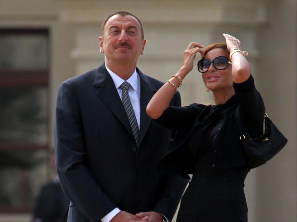 Mehriban Aliyeva e il presidente Ilham Aliyev