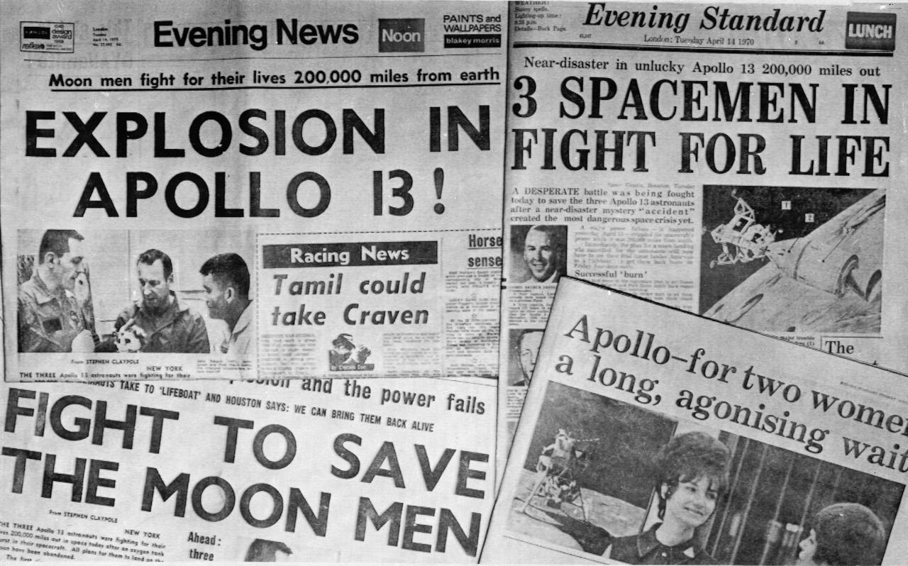 Giornali per l'Apollo 13