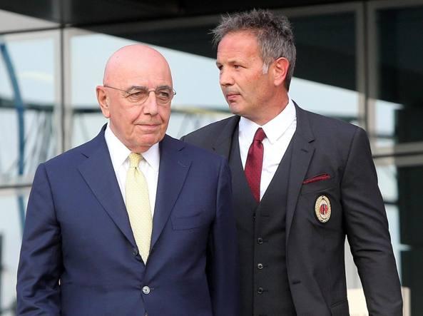 Milan: la Curva Sud contro Galliani e Berlusconi