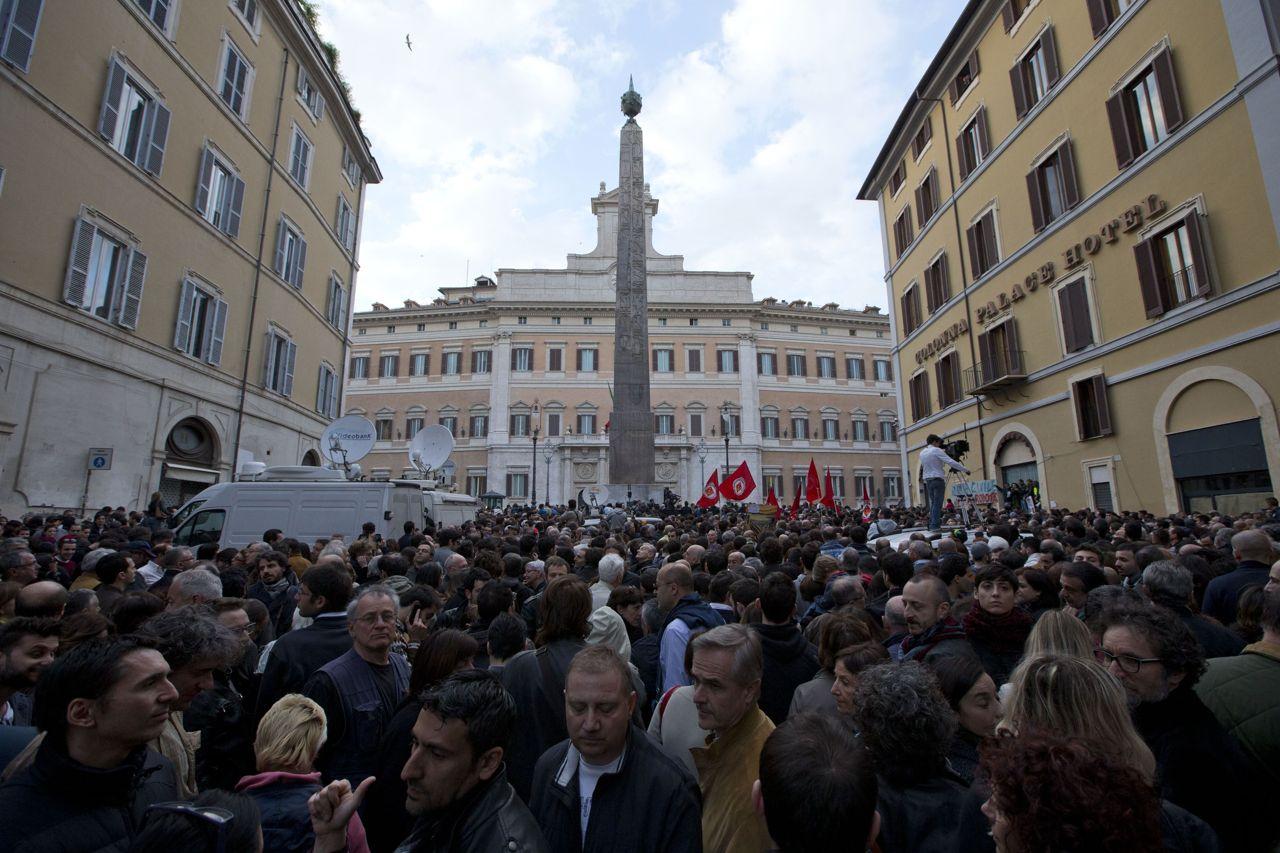 20 aprile 2013 tre anni fa la rielezione di napolitano a for Votazioni parlamento