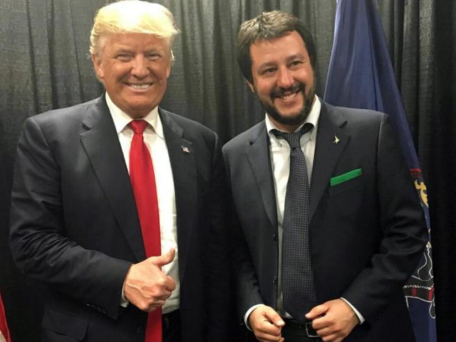 E Trump incorona Salvini:«Diventerai premier in Italia»