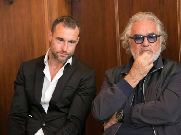 Philipp Plein (a sinistra) con Flavio Briatore