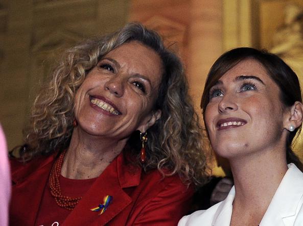 Monica Cirinnà con Maria Elena Boschi