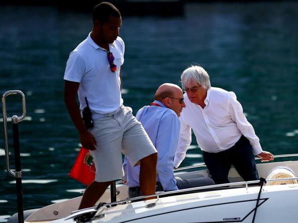 Bernie Ecclestone e Donald Mackenzie a Montecarlo (Getty)