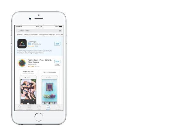 Un'app sponsorizzata sul nuovo App Store