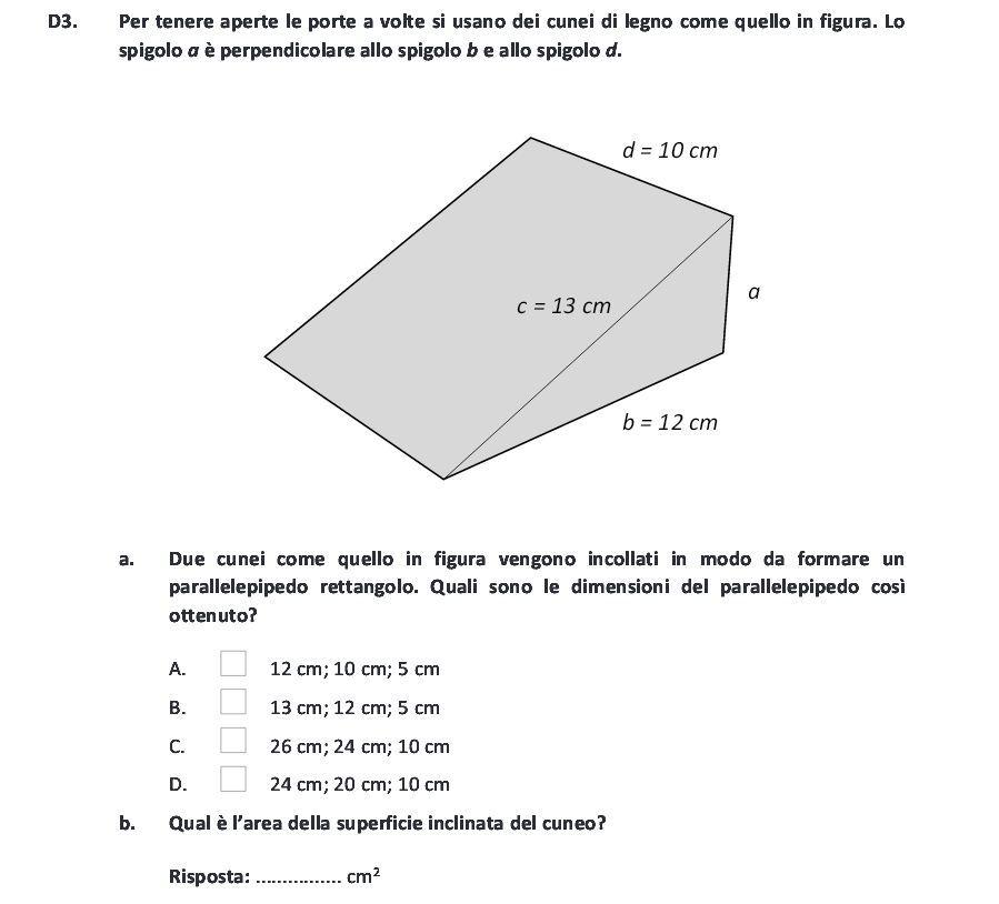 Esame di terza media 2017 esercitati con l invalsi del for Calcolo superficie