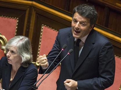 Matteo Renzi a Palazzo Madama