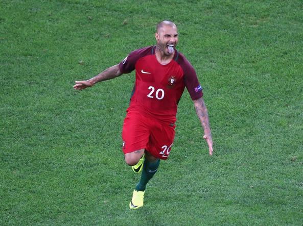 Gioia. Ricardo Quaresma, 32 anni, esulta dopo il rigore decisivo contro la Polonia (Getty Images/Livesey)