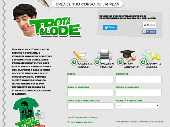 Il sito www.trotaelode.com