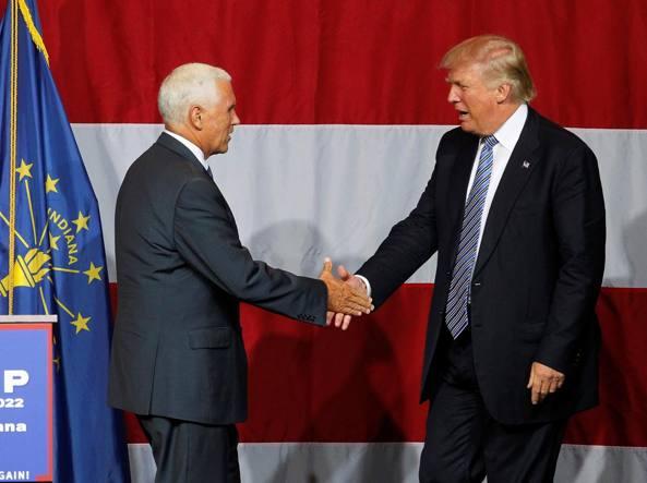 Usa 2016: media, Trump ha scelto Pence come vice