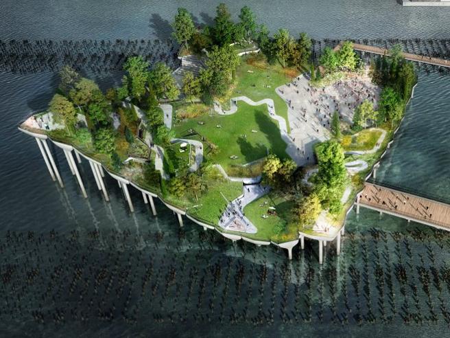 Semaforo verde per l'Hudson River Park, il parco galleggiante di New York
