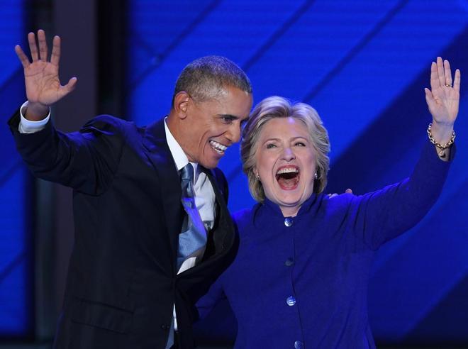 La sfida di Hillary: «L'America unita con me sarà più forte» Sul palco con Obama
