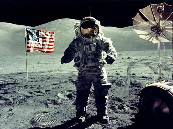 Eugene Cernan dell'Apollo 17, il 19 dicembre 1972 (Reuters)