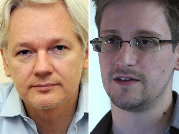 Julian Assange ed Edward Snowden