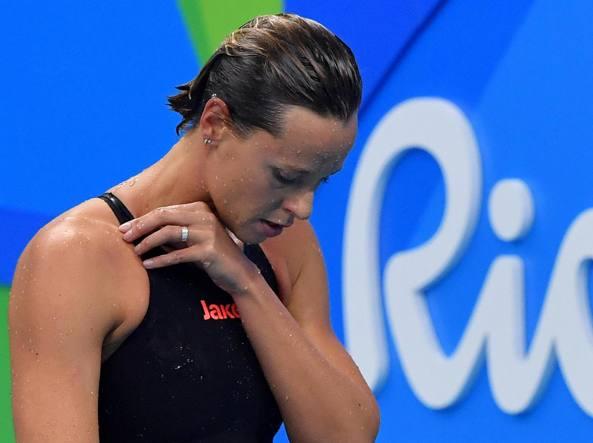 Federica Pellegrini dopo la delusione