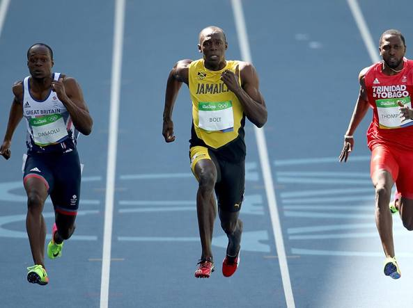 Re Usain, vittoria con dedica: