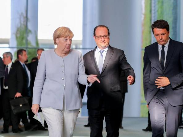 Vertice Renzi-Merkel-Hollande. Il futuro dell'UE dopo Brexit
