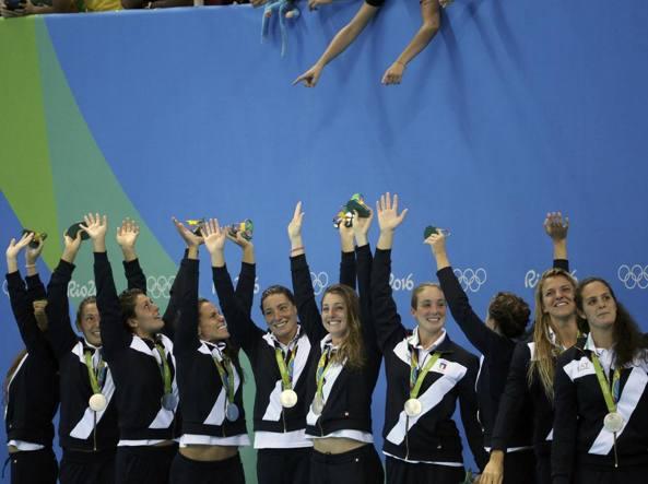 L'Italia sul podio (Reuters/Moraes)
