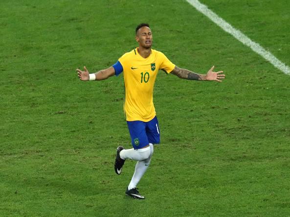 Neymar dopo il rigore decisivo (Getty/Mendes)