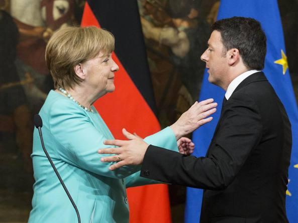 I tre leader, Renzi, Merkel e Hollande a Napoli: allerta Capodichino