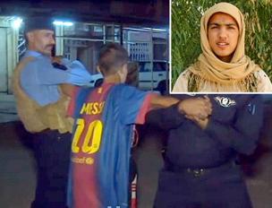 Nel riquadro il  ragazzino-kamikaze morto a Kirkuk