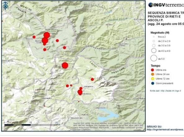 Terremoto, in Umbria 35 scosse in cinque ore