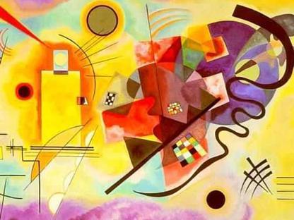 Vassily Kandinsky, �Giallo, rosso, blu� (1925, Centre Georges Pompidou, Parigi)