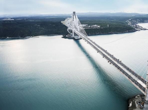 Turchia il terzo ponte sul bosforo inaugurato dal for Ponte sopra i disegni del garage