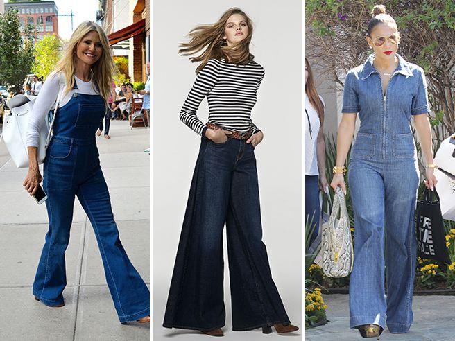 Jeans d'autunno.  A chi stanno bene? Torna la zampa ma è più impegnativa