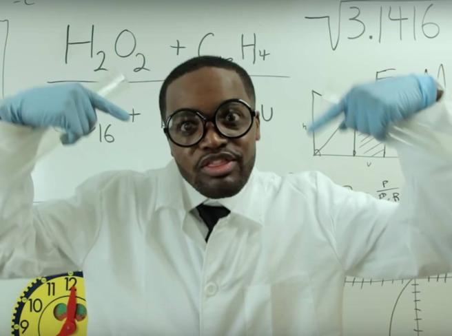 Il video virale del maestro rapper«Gasatissimo di stare qui con voi»