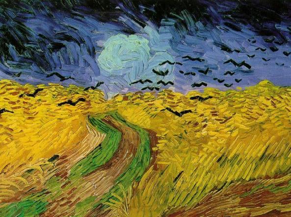Vincent van Gogh, Campo di grano con volo di corvi (1890)