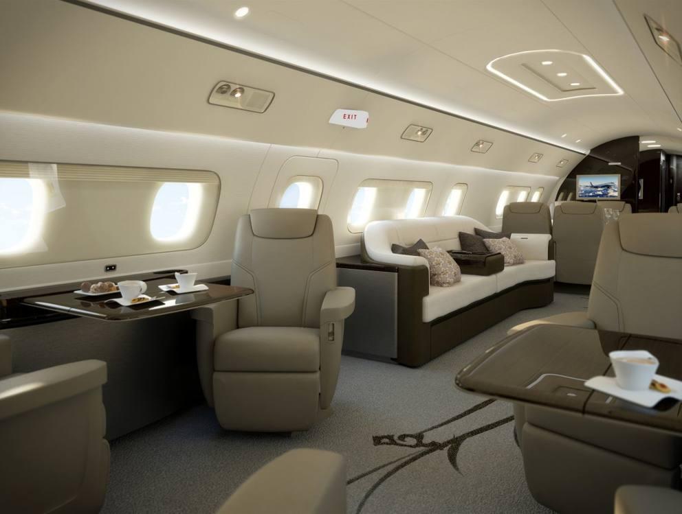 Saloni bagni camere da letto il lusso estremo dei jet for Grandi jet d affari in cabina