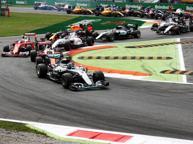 Gp d'Italia, dominio Mercedes Vince Rosberg, Vettel terzo