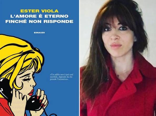 Ester Viola (Morbegno, Sondrio, 1978)  e la copertina del suo romanzo