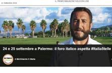 #Italia5stelle: l'invito a Palermo. E a contribuire a finanziare la kermesse