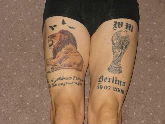 Calciatori e tatuaggi fin dove si spinge la creativit e for Interno coscia uomo