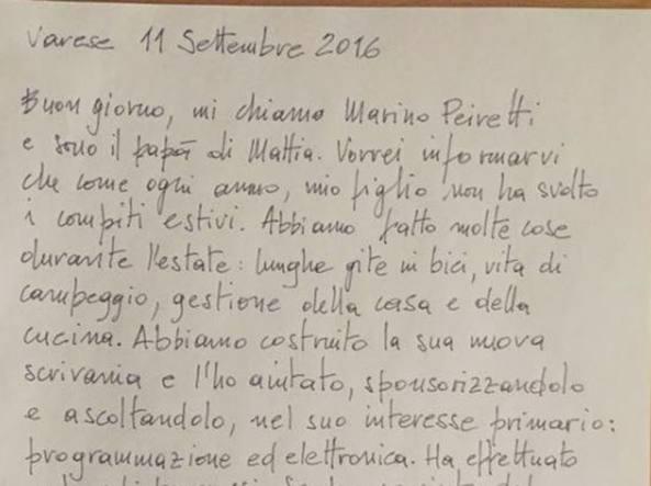 Lettera di un pap mio figlio non ha fatto i compiti ha - Lettere stampabili di medie dimensioni ...