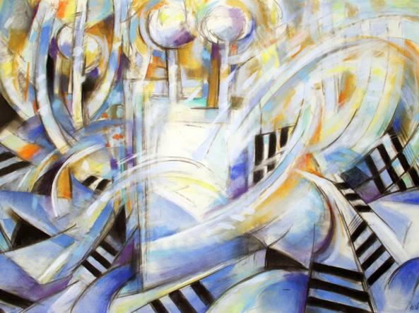 Norman Garbaty (New York, 1932), «Torah» (1999, pastello, particolare) Walsh Art Gallery / Fairfield University, Stati Uniti