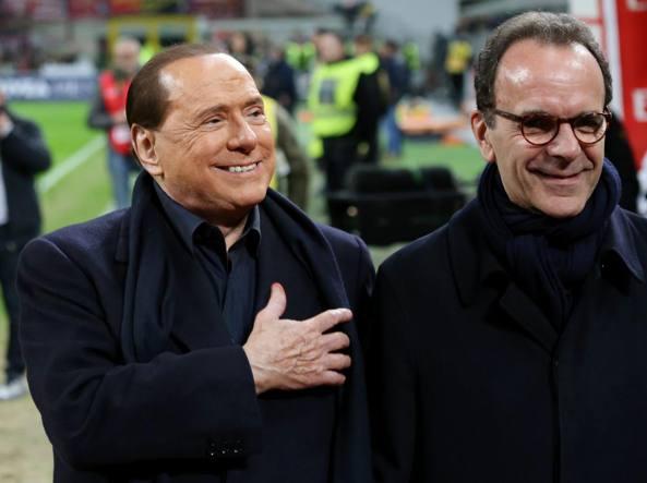 Silvio Berlusconi con Stefano Parisi (Forte Fabrizio)