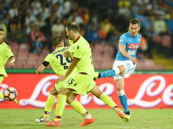 Milik segna l'ultimo gol (Getty Images/Pecoraro)