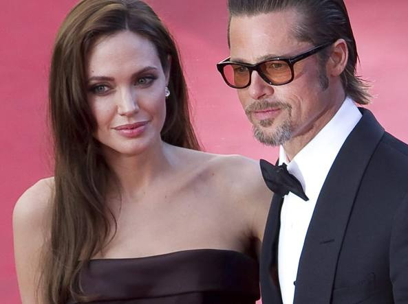 Angelina Jolie e Brad Pitt (Afp/Eisele)