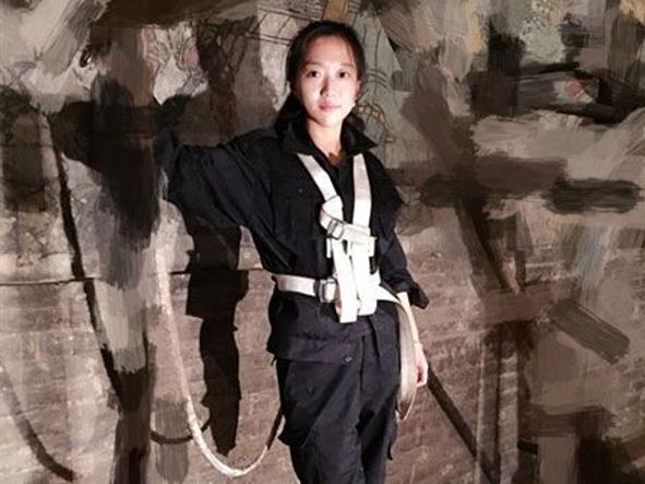 La restauratrice (in erba) Guo Jia, 25 anni