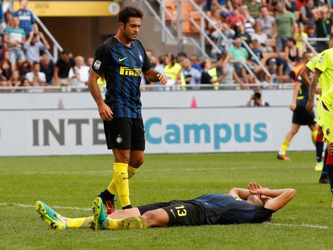 Serie A, Inter-Bologna 1-1: le pagelle nerazzurre. Ranocchia disgraziato, Kondogbia in manifesta inferiorità