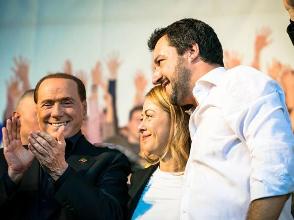 Referendum costituzione, vertice tra Berlusconi, Salvini e Meloni Uniti per il 'No'