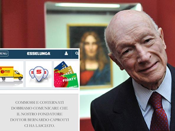 Esselunga rende omaggio al patron caprotti luned mattina for Necrologio corriere della sera