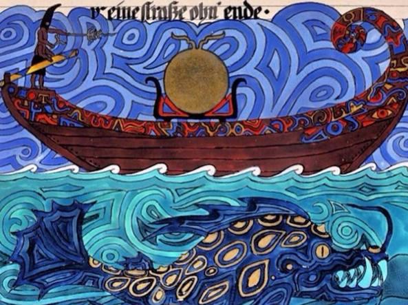 Particolare di una tavola realizzata da Carl Gustav Jung, tratta dal manoscritto uscito postumo il Libro rosso