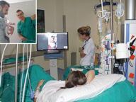 In Rianimazione dopo il parto, il primo vagito è sulla smart tv