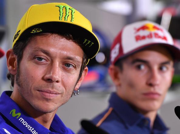 Valentino Rossi in pole davanti a Marquez nel Gp del Giappone